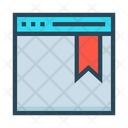 Webpage Bookmark Browser Icon