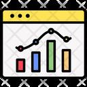 Webpage Statistics Graph Icon