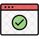 Webpage Browser Check Icon