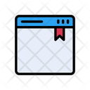 Webpage Bookmark Tag Icon