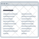 Column Text Article Icon