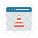 Webpage Browser Cone Icon