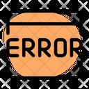 Webpage Error Icon