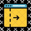 Arrow Internet Webpage Icon