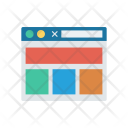 Webpage layout Icon