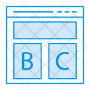 Webpage Layout Browser Icon