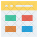 Webpage Management Template Icon