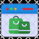Webpage Online Shop Icon