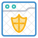 Webpage Internet Security Icon