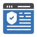 Webpage Security Browser Icon