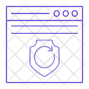 Webpage Shield Security Icon