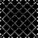 Webpage Lock Setting Icon