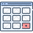 Website Wireframe Webpage Wireframe Webpage Structure Icon