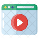 Webpage Video Online Video Video Page Icon