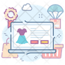 Online Shopping Web Shopping Shopping Website Icon