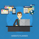 Website Planner Human Icon