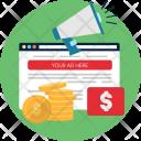 Website Advertising Money Icon