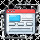 Website Webpage Web Mockup Icon