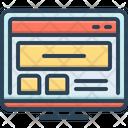 Web Site Coding Icon