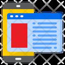 Mobilephone Webpage Web Icon