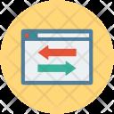 Website Webpage Arrows Icon