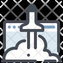 Website Development Launch Icon