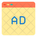 Website Ad Ads Advertising Icon
