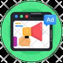 Web Advertisement Website Ads Web Layout Icon