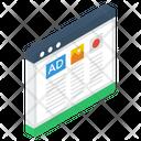 Website Advertisement Icon