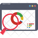 Search Graph Search Chart Infographics Icon