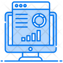 Website Analysis Data Management Seo Analytics Icon