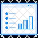 Website Analytics Web Statistics Infographic Icon
