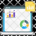 Website Analytics Data Analysis Business Analytics Icon