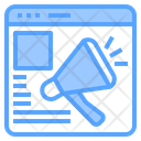 Website Advertising Technology Icon