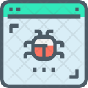 Website Bug Hacking Icon