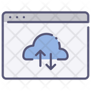 Website cloud data Icon