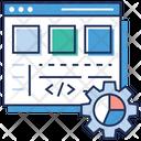 Web Configuration Web Development Data Analytics Icon
