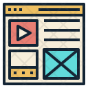 Content Website Media Icon
