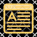 Font Window Online Icon