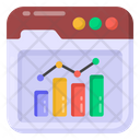 Web Analytics Website Data Website Analysis Icon