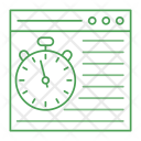 Online Stopwatch Internet Icon