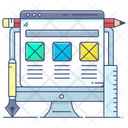 Website Design Web Design Web Wireframe Icon