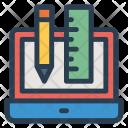Ruler Design Laptop Icon