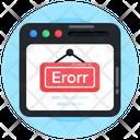 Website Error Web Error Site Error Icon
