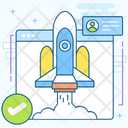 Web Rocket Website Missile Web Projectile Icon