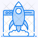 Website Launch Startup Commencement Icon