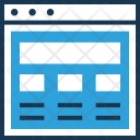 Layout Wireframe Web Icon