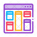 Web Site Layout Icon