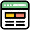Website Layout Web Icon