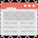 Website Layout Icon